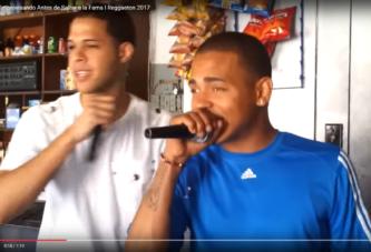 OZUNA IMPROVISANDO ANTES DE SALTAR A LA FAMA!!