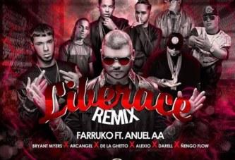 "Farruko con Anuel AA presentan ""Liberace Remix"" junto a Ñengo Flow, Arcangel, De La Ghetto, Bryant Myers, Darell y Alexio"